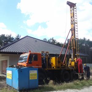 Wiercenie odwiertu z zabudową pionowego wymiennika ciepła - sondy geotermalnej